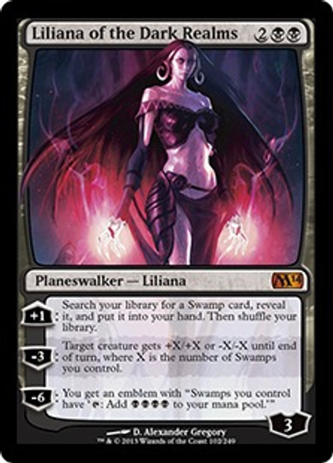 MtG 2014 Core Set Mythic Rare Liliana of the Dark Realms #102