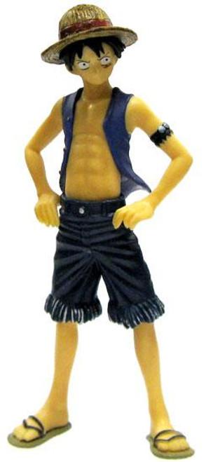 One Piece Chozokei Tamashii Rookies Monkey D. Luffy 4-Inch PVC Figure