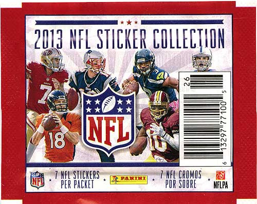 NFL Panini 2013 Football Sticker Collection Pack [7 Stickers]
