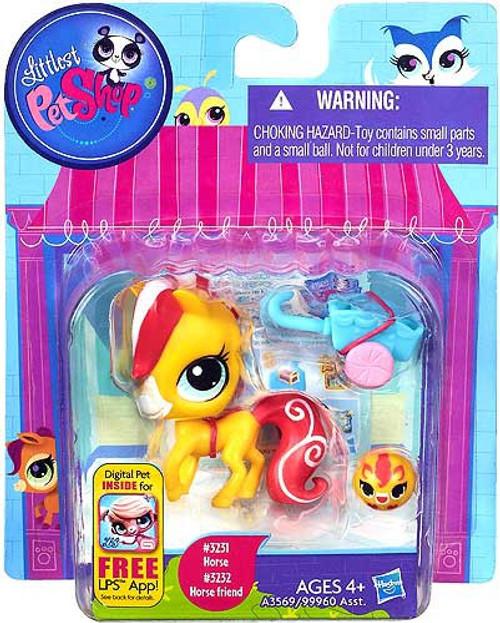 Littlest Pet Shop Horse & Horse Friend Figure 2-Pack #3231, 3232