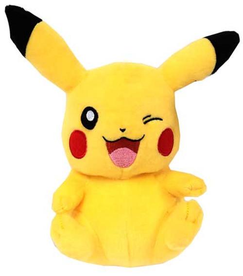 Pokemon Black & White 8 Inch Pikachu Plush [Sitting & Winking]