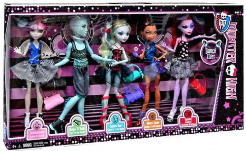 Monster High Dance Class Exclusive 10.5-Inch Doll 5-Pack