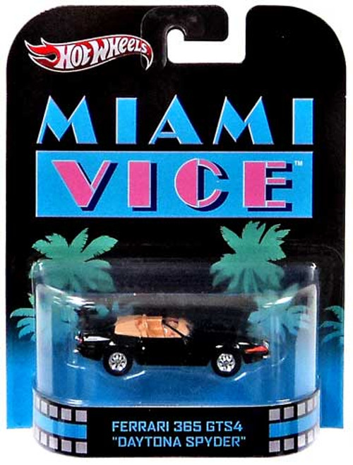 "Hot Wheels Miami Vice HW Retro Entertainment Ferrari 365 GTS4 ""Daytona Spyder"" Die-Cast Car"