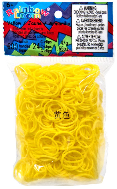 Rainbow Loom Yellow Rubber Bands Refill Pack [600 Count]