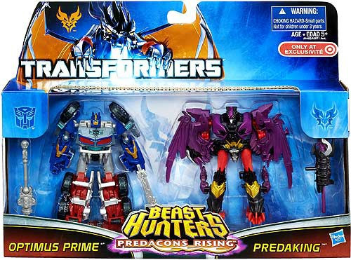 Transformers Beast Hunters Predacons Rising Optimus Prime & Predaking Exclusive Action Figure 2-Pack