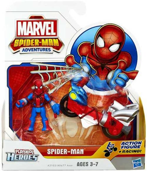 Marvel Playskool Heroes Spider-Man Adventures Spider-Man with Web Racer Action Figure Set