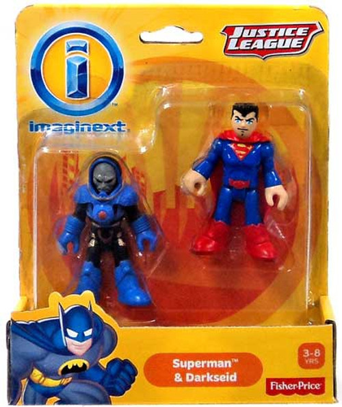 Fisher Price DC Super Friends Imaginext Justice League Superman & Darkseid Exclusive 3-Inch Mini Figures