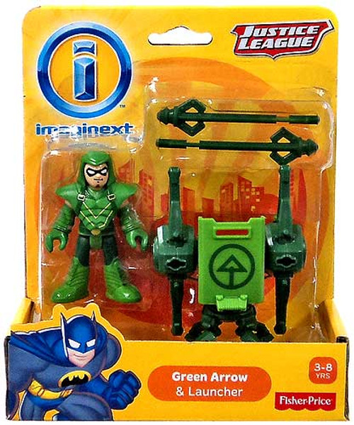 Fisher Price DC Super Friends Imaginext Justice League Green Arrow & Launcher 3-Inch Mini Figure