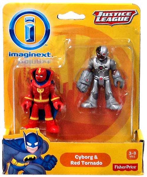 Fisher Price DC Super Friends Imaginext Justice League Cyborg & Red Tornado Exclusive Mini Figures