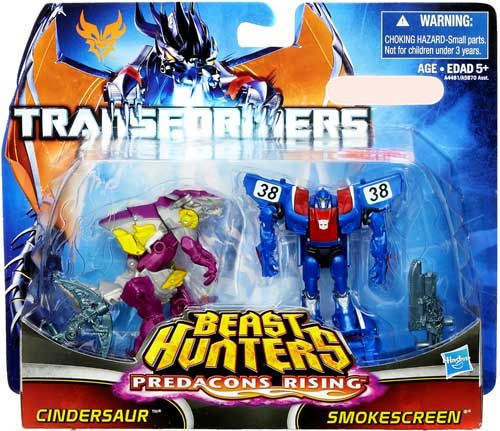 Transformers Prime Beast Hunters Predacons Rising Cindersaur & Smokescreen Exclusive Action Figure