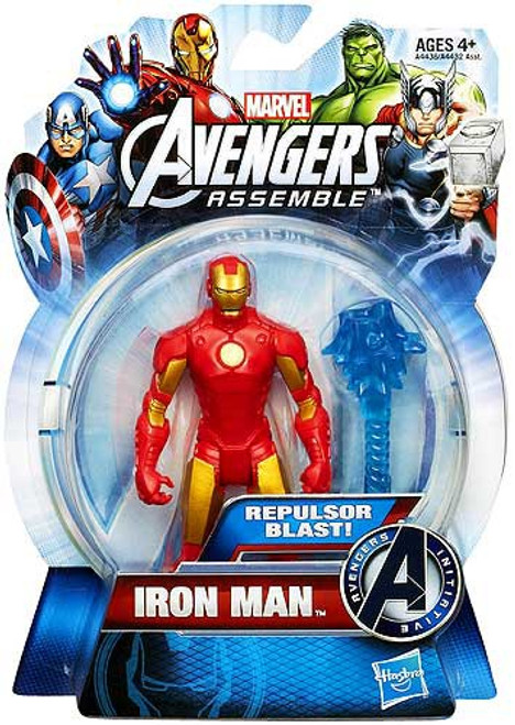 Marvel Avengers Assemble Iron Man Action Figure [Repulsor Blast, Red & Gold]