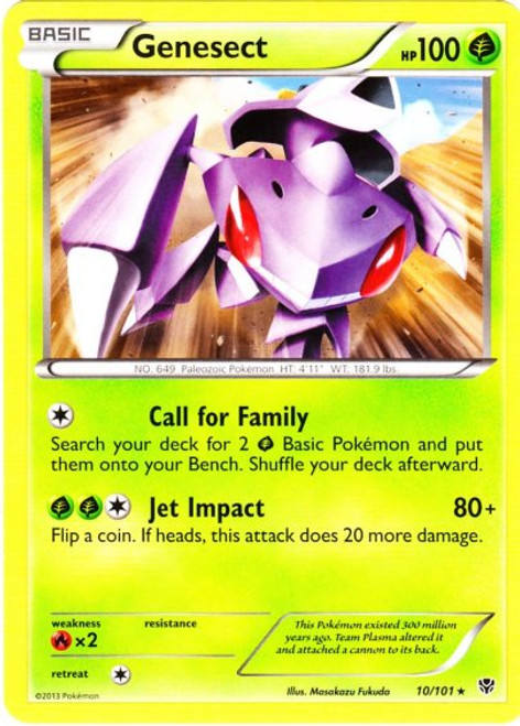 Pokemon Black & White Plasma Blast Rare Genesect #10