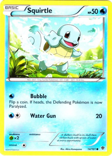 Pokemon Black & White Plasma Blast Common Squirtle #14