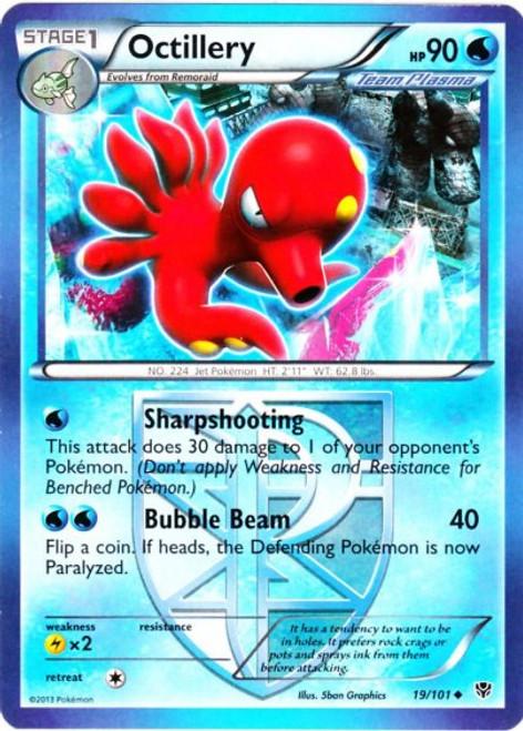 Pokemon Black & White Plasma Blast Uncommon Octillery #19