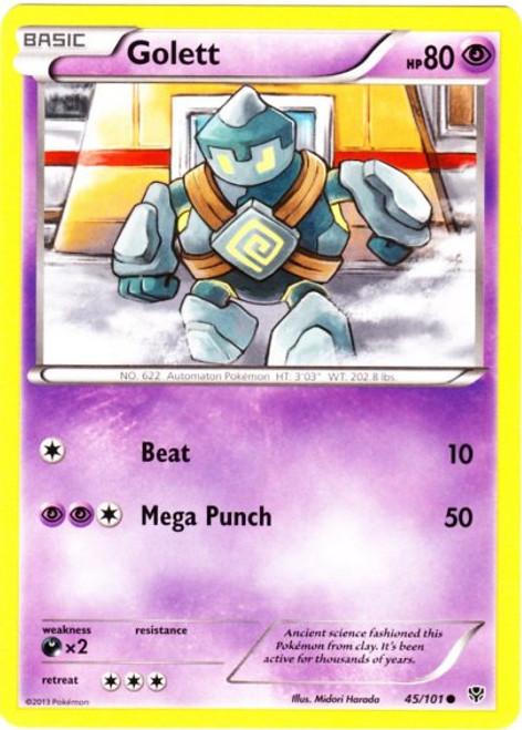 Pokemon Black & White Plasma Blast Common Golett #45