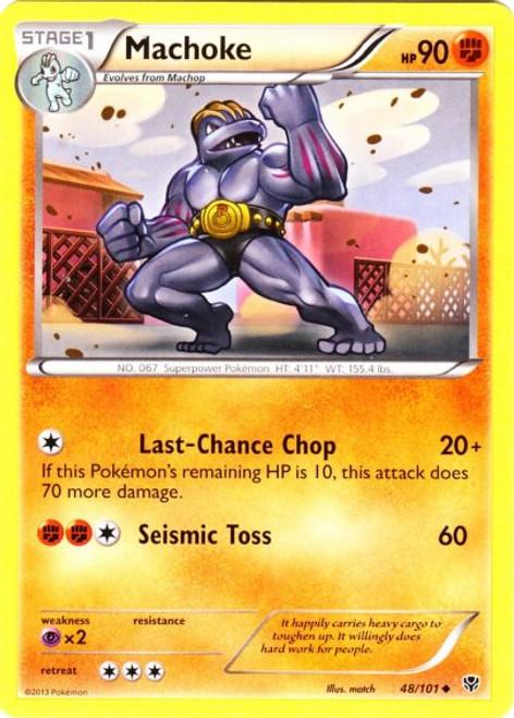 Pokemon Black & White Plasma Blast Uncommon Machoke #48