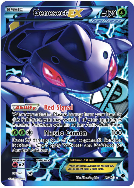 Pokemon Black & White Plasma Blast Ultra Rare Full Art Genesect EX #97