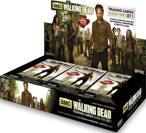 The Walking Dead AMC TV Season 3 Part 1 Trading Card Box [24 Packs]