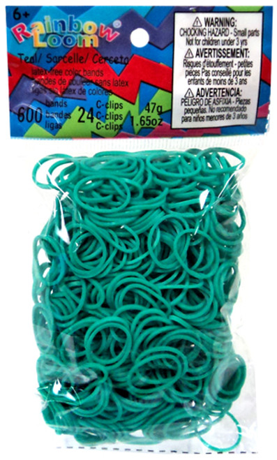 Rainbow Loom Teal Rubber Bands Refill Pack RL17 [600 Count]