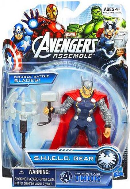 Marvel Avengers Assemble SHIELD Gear Thunder Axe Thor Action Figure