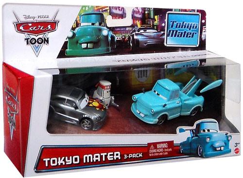 Disney / Pixar Cars Cars Toon Multi-Packs Tokyo Race Party Exclusive Diecast Car 3-Pack Set