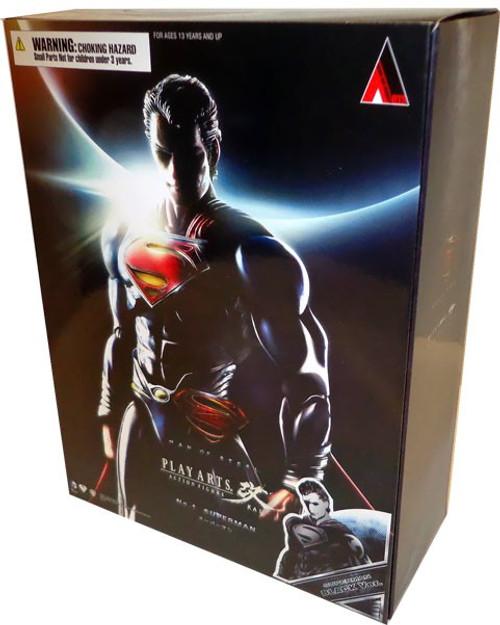 Man of Steel Play Arts Kai Superman Action Figure [Black Suit]