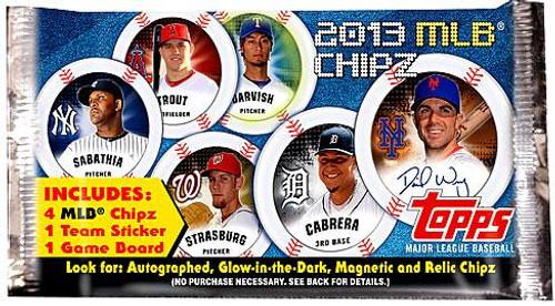 MLB Topps 2013 Chipz Baseball Booster Pack