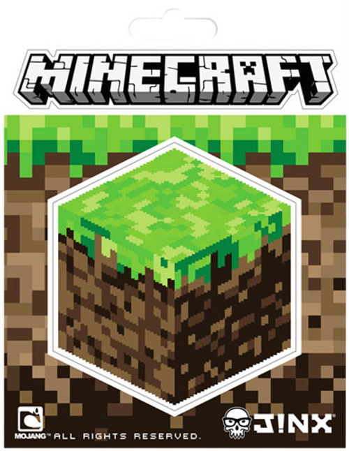 Minecraft Grass Block 3-Inch Sticker