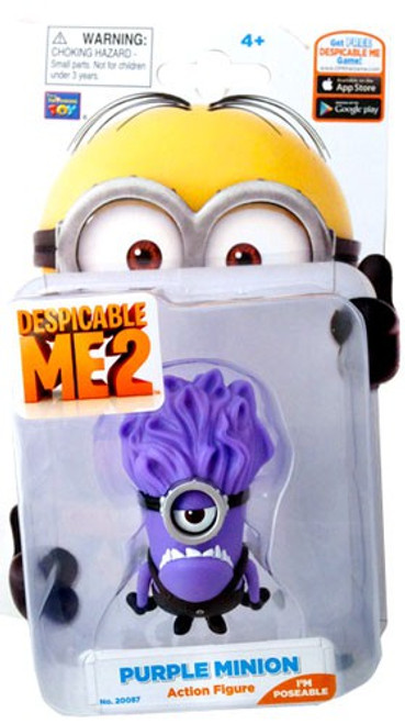 Despicable Me 2 Purple Minion Action Figure [Stuart]