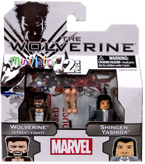 The Wolverine Minimates Series 52 Wolverine [Street Fight] & Shingen Yashida Minifigure 2-Pack
