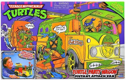 Teenage Mutant Ninja Turtles TMNT 1987 Classics Collection Turtle Party Wagon Action Figure Vehicle