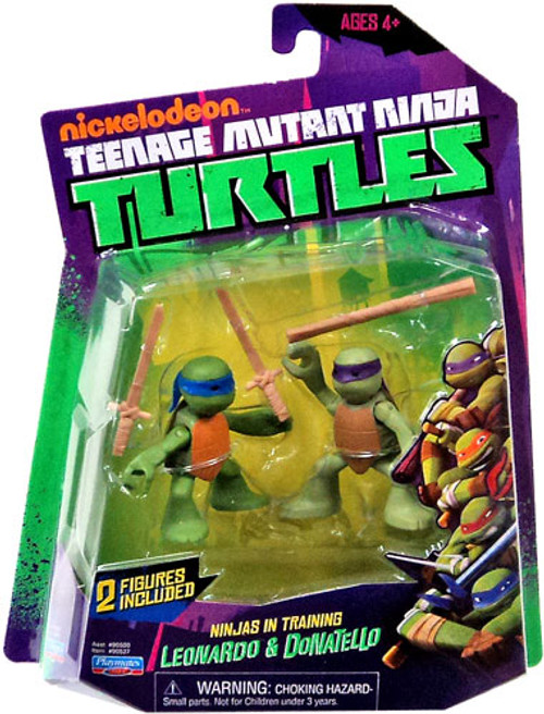 Teenage Mutant Ninja Turtles Nickelodeon Ninjas in Training Leonardo & Donatello Action Figure 2-Pack