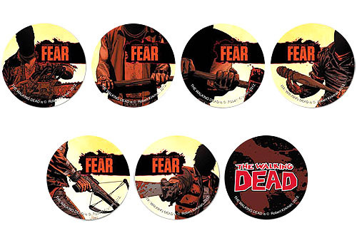 The Walking Dead Comic Set of 7 Promo Buttons