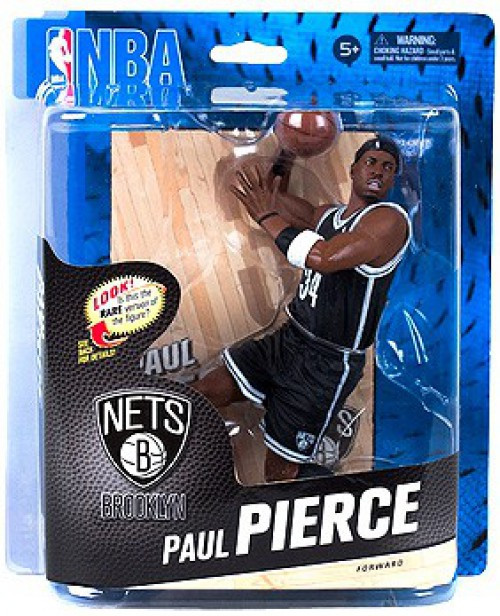 McFarlane Toys NBA Brooklyn Nets Sports Picks Series 24 Paul Pierce Action Figure [Black Jersey]