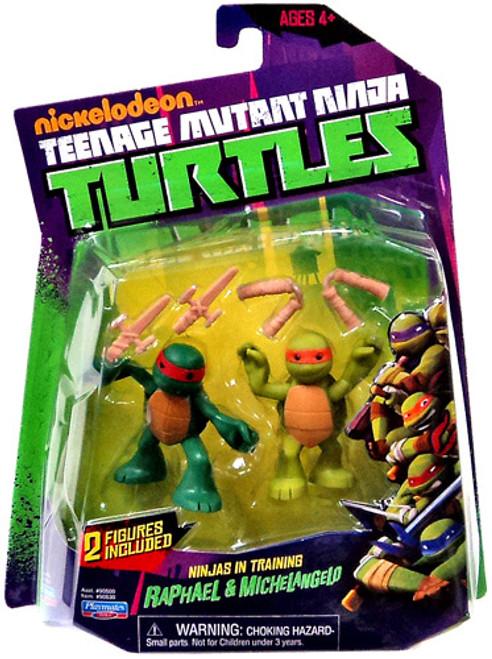 Teenage Mutant Ninja Turtles Nickelodeon Ninjas in Training Raphael & Michelangelo Action Figure 2-Pack