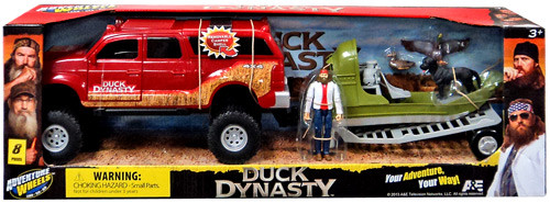 Duck Dynasty Adventure Wheels Red Truck, Boat & Willie Action Figure Playset