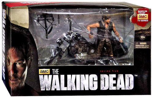 McFarlane Toys The Walking Dead AMC TV Daryl Dixon & Chopper Deluxe Action Figure Set