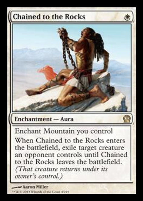 MtG Theros Rare Chained to the Rocks #4