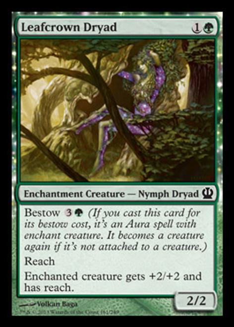 MtG Theros Common Leafcrown Dryad #161