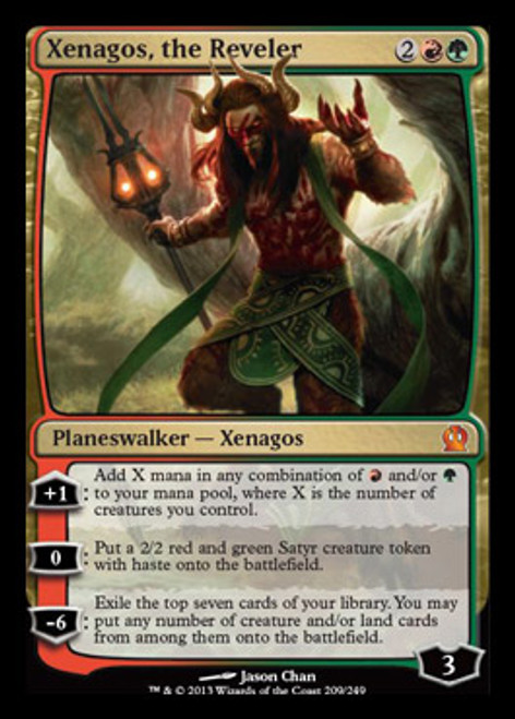 MtG Theros Mythic Rare Xenagos, the Reveler #209