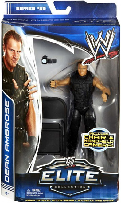 WWE Wrestling Elite Collection Series 25 Dean Ambrose {The Shield} Action Figure [Chair & Handheld Camera]