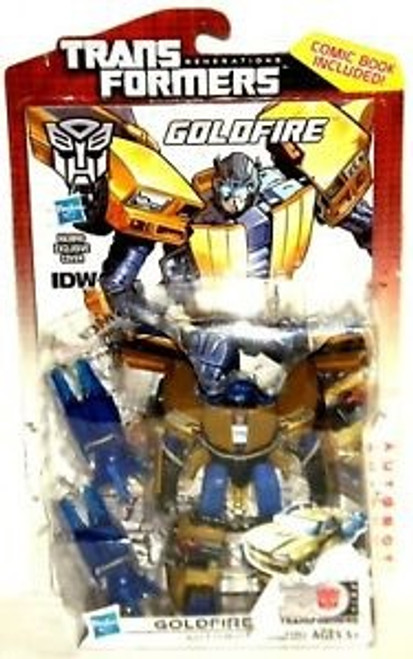 Transformers Generations 30th Anniversary Deluxe Goldfire Deluxe Action Figure [Comic Book Included]
