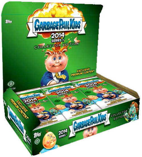 Garbage Pail Kids Topps 2014 Series 1 Trading Card COLLECTOR Edition HOBBY Box [24 Packs]