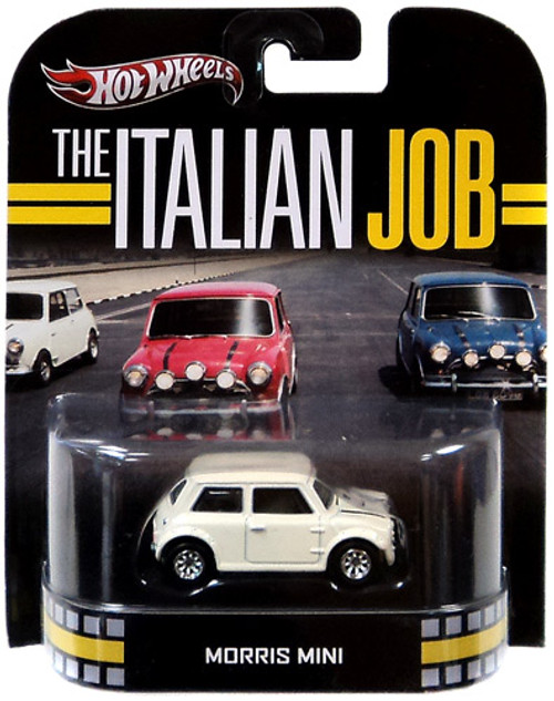 Hot Wheels The Italian Job HW Retro Entertainment Morris Mini Diecast Car [White]