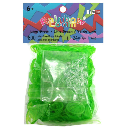 Rainbow Loom Jelly Lime Green Rubber Bands Refill Pack RL10 [600 Count]
