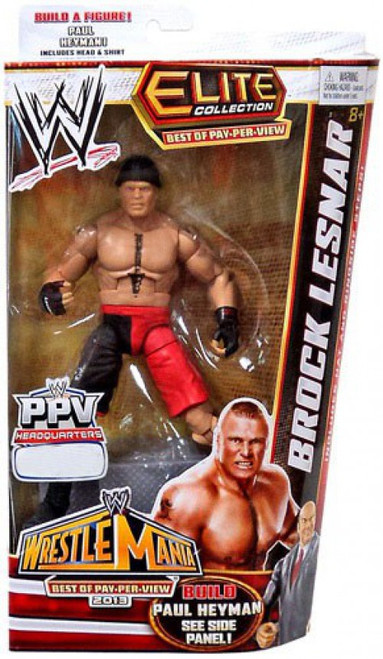WWE Wrestling Elite Collection Best of Pay Per View Brock Lesnar Exclusive Action Figure [Build Paul Heyman]