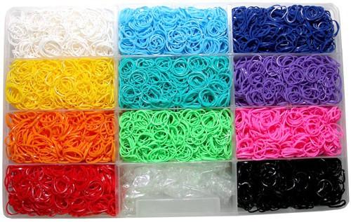 Rainbow Loom Rubber Band Bracelet Kit [6,600 Bands]