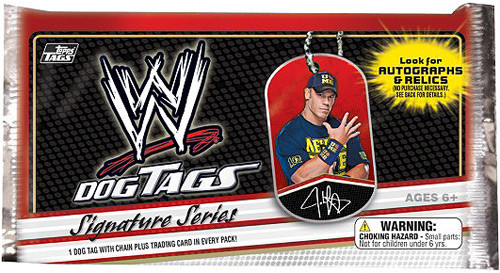 WWE Wrestling Topps 2013 Signature Series Dog Tags Mystery Pack