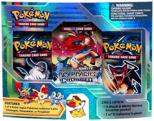 Pokemon Trading Card Game Black & White Fennekin Pin Pack [3 Booster Packs & Pin!]