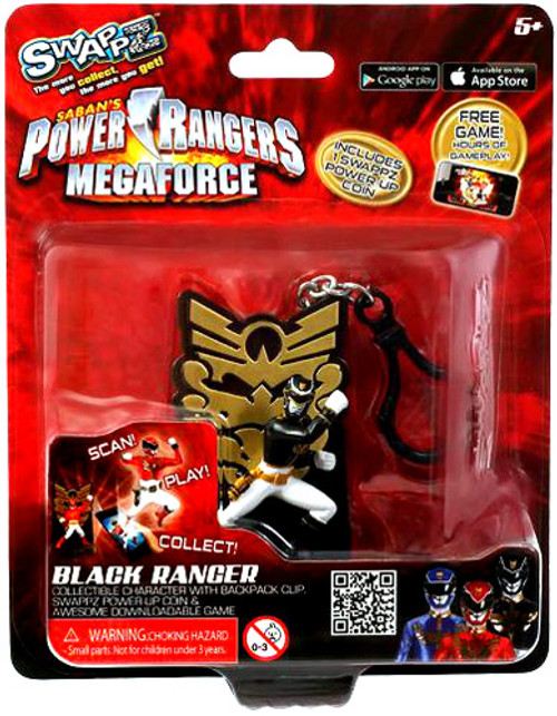 Power Rangers Megaforce Swappz Black Ranger Minifigure